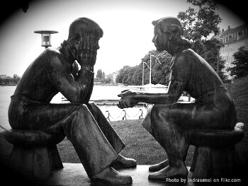 Picture of a couple talking to each other
