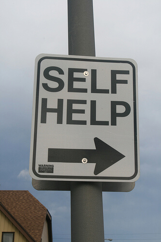 Image of self help sign.